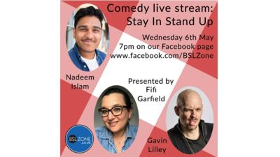 Comedy live stream: Stay In Stand Up