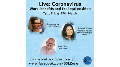 Coronavirus: Work, benefits and the legal system live stream: 7pm, 27th March
